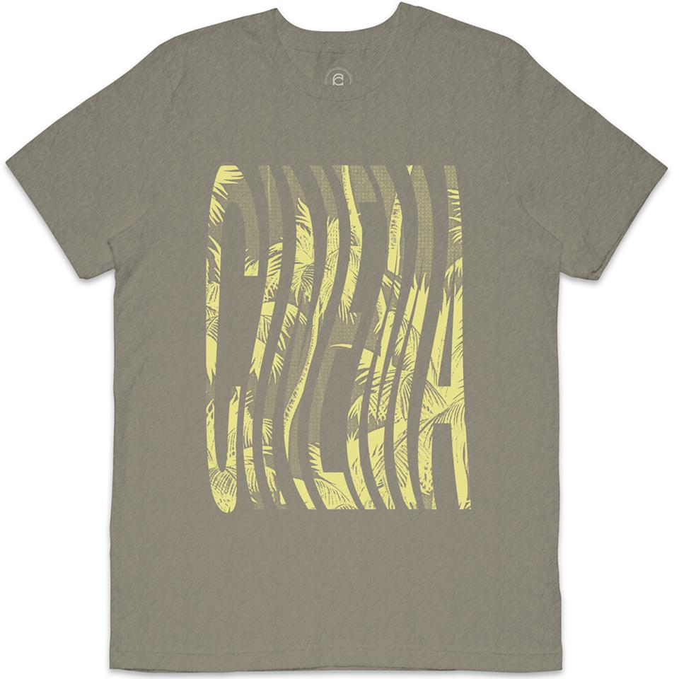 Cinema Acid Palms T-Shirt - Heather/Stone