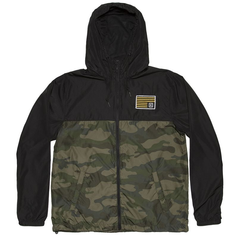 Kink Breach Windbreaker Jacket - Black/Camo