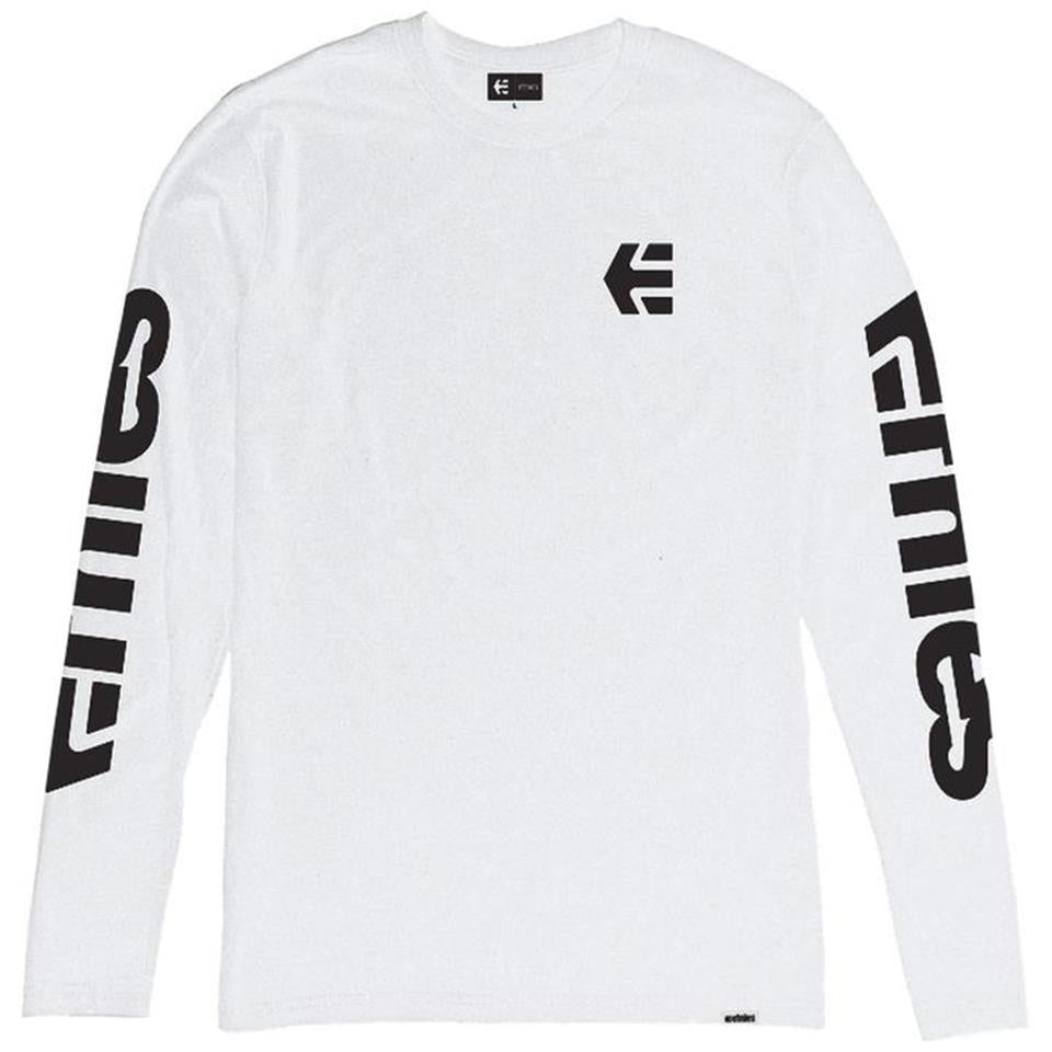 Etnies E-Mark Long Sleeve T-Shirt - White