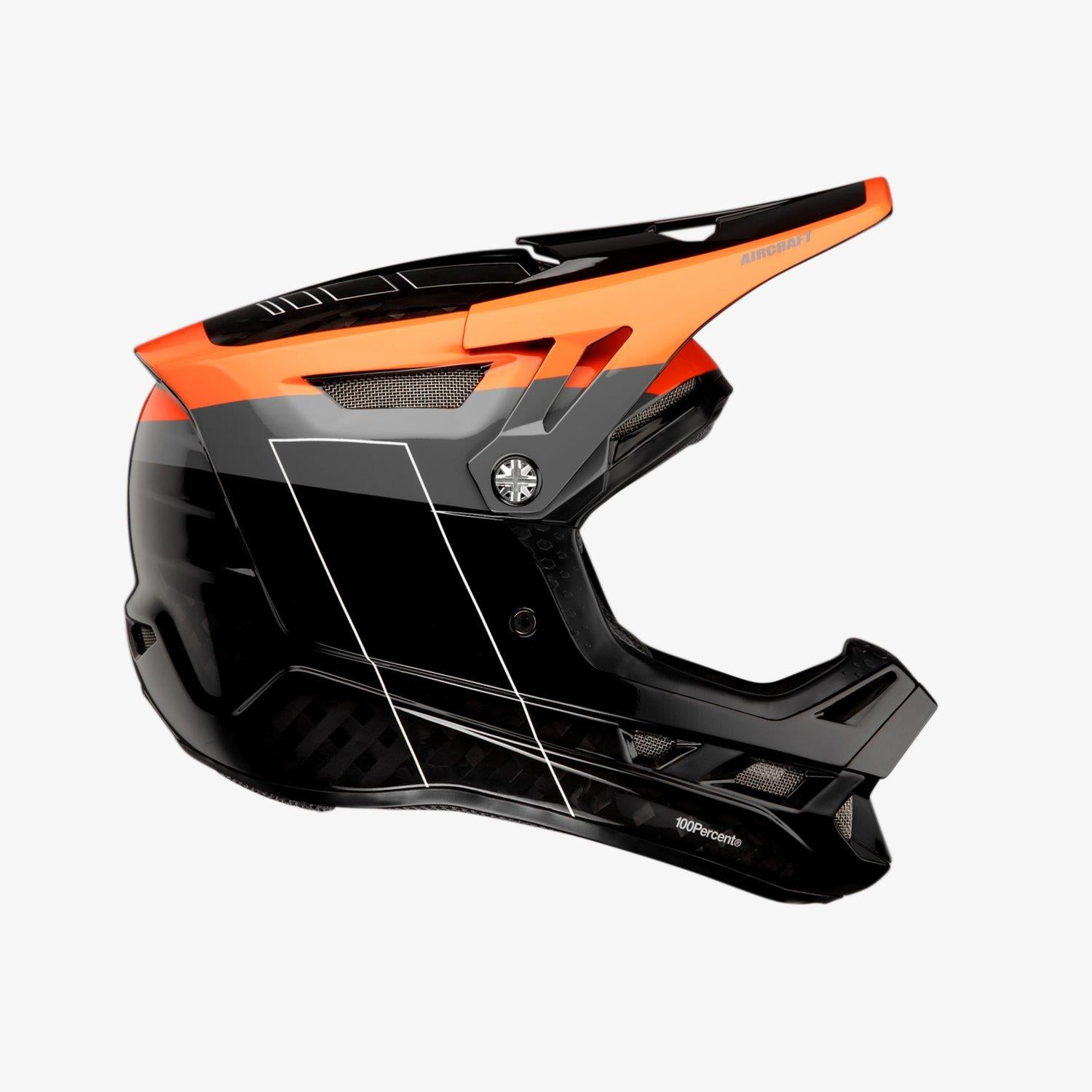 100% Aircraft Carbon MIPS Race Helmet - Darkblast