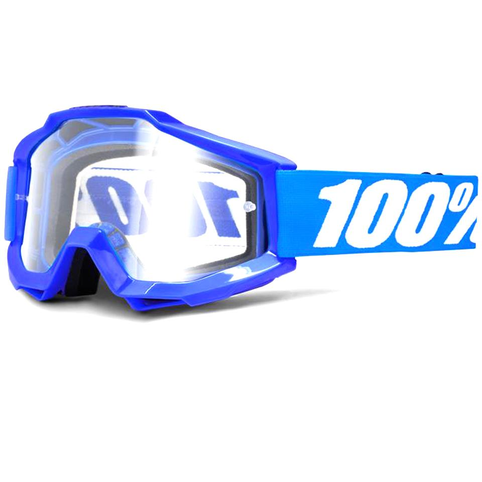 100% Accuri OTG Race Goggle - Reflex Blue/Clear Lens