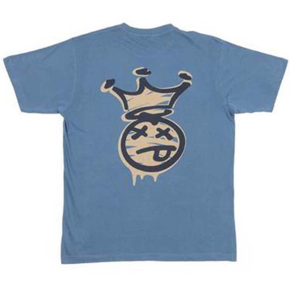 BSD Acid Tag T-Shirt - Petrol Blue