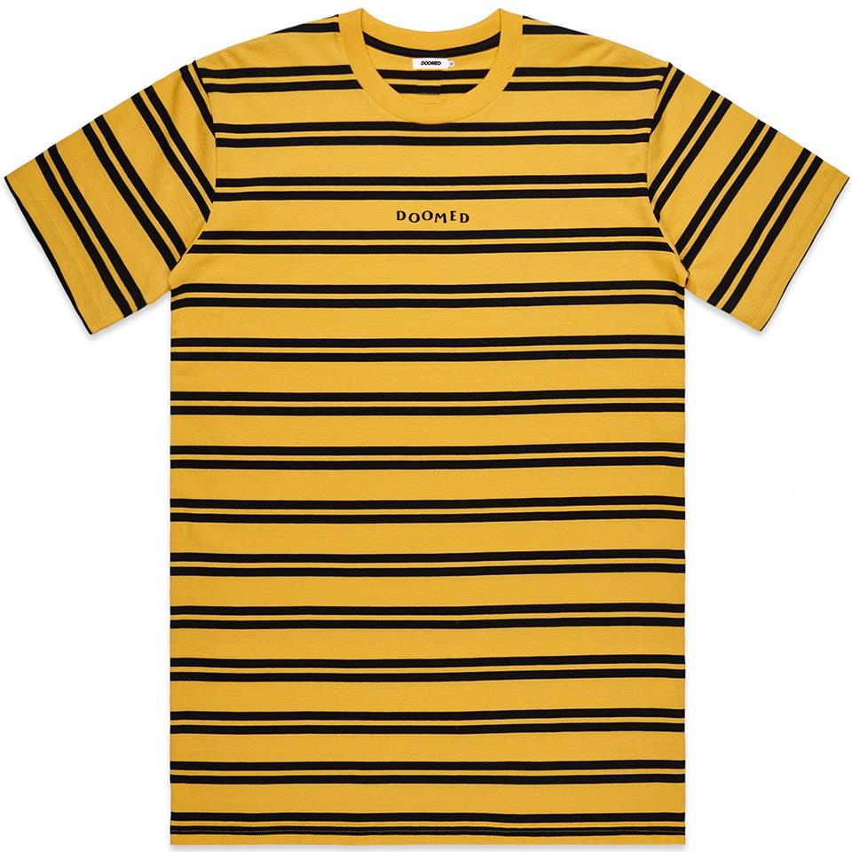 Doomed Bumble T-Shirt - Yellow/Black Stripe