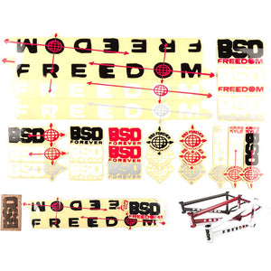 BSD FREEDOM FRAME STICKER 2020