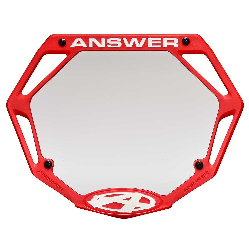 Answer 3D Race Number Plate