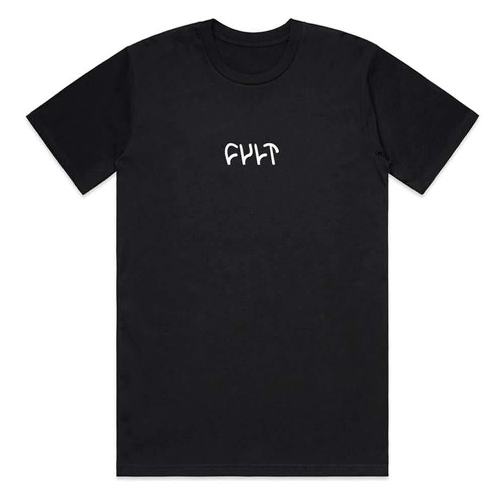 Cult Embroidered Logo T-Shirt - Black