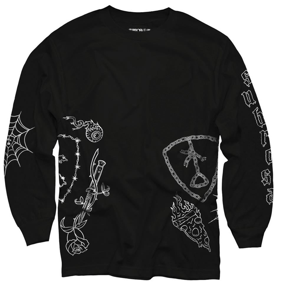 Subrosa Yung Rose Long Sleeve T-Shirt - Black