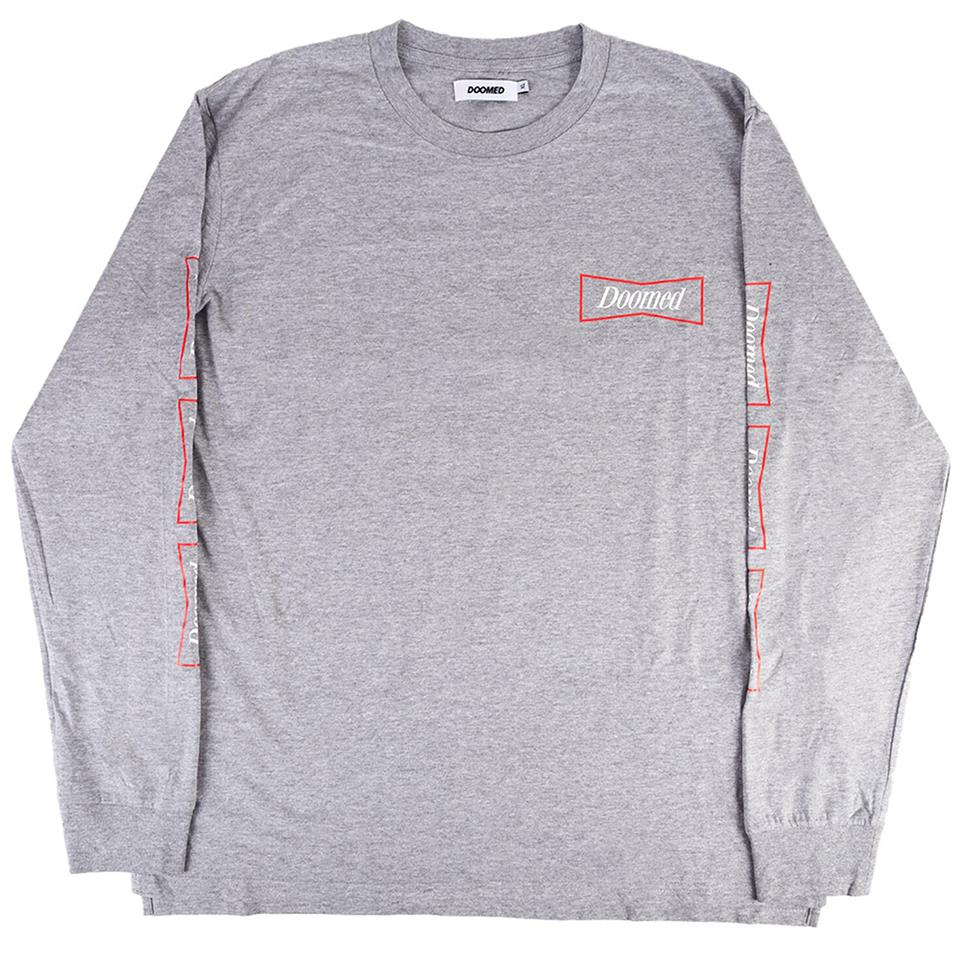 Doomed Wub Beiser Long Sleeve T-Shirt - Grey