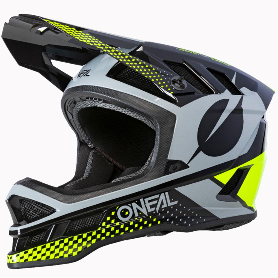 O'Neal Blade Polyacrylite Race Helmet - Ace Black/Neon Yellow/Grey