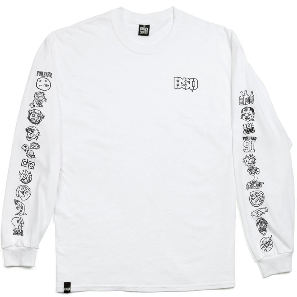 BSD Icon Long Sleeve T-Shirt - White
