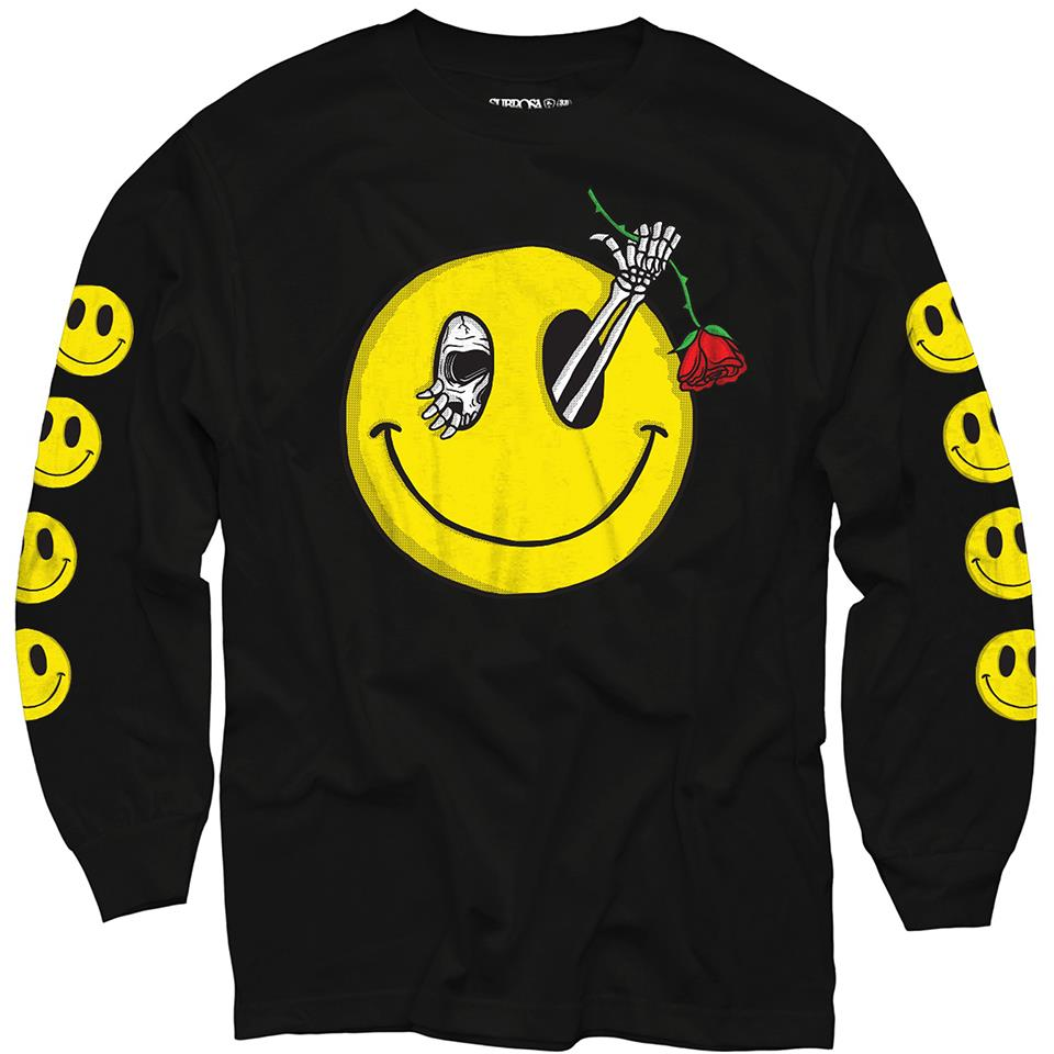Subrosa Evil Grin Long Sleeve T-Shirt - Black