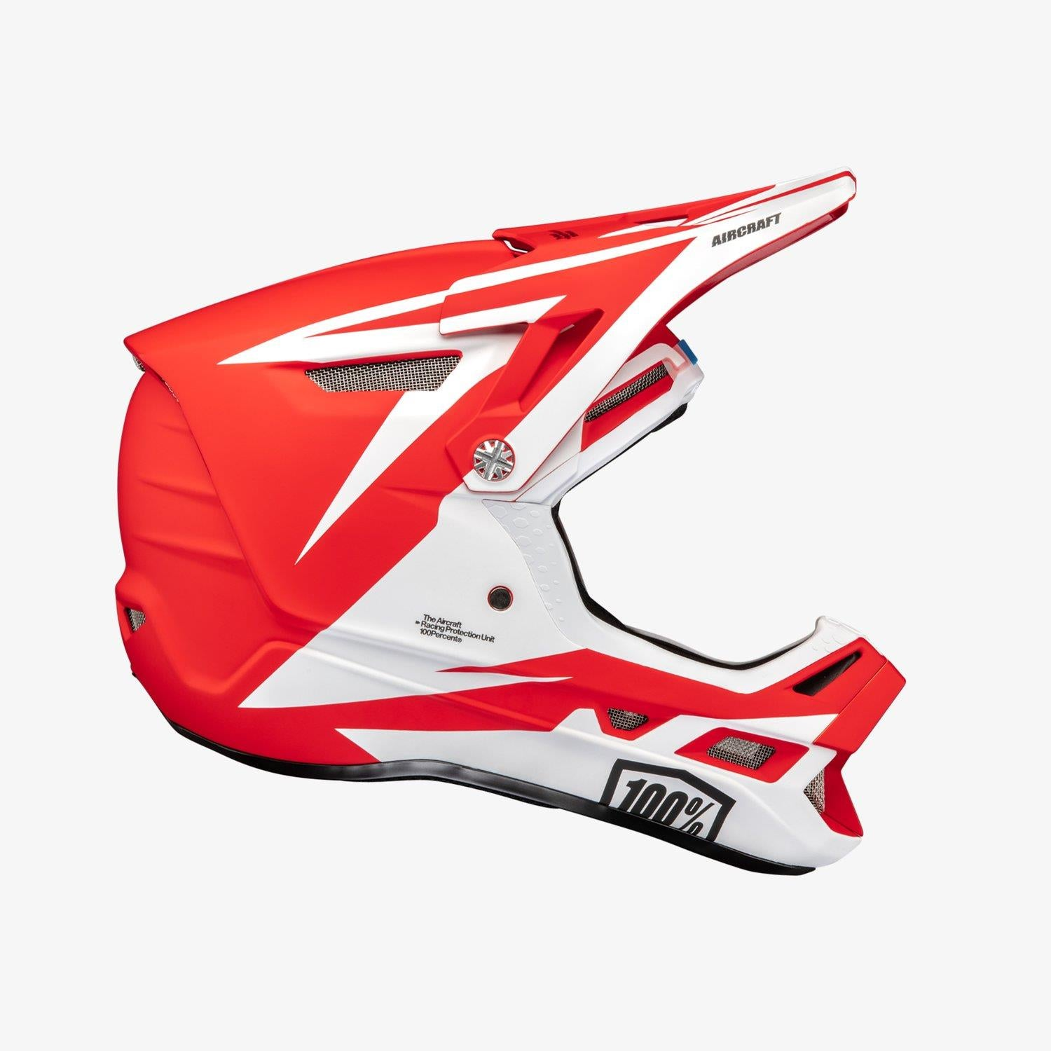100% Aircraft Composite Race Helmet - Rapidbomb/Red