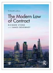 The Modern Law of Contract