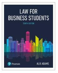 Adams: Law for Business Students