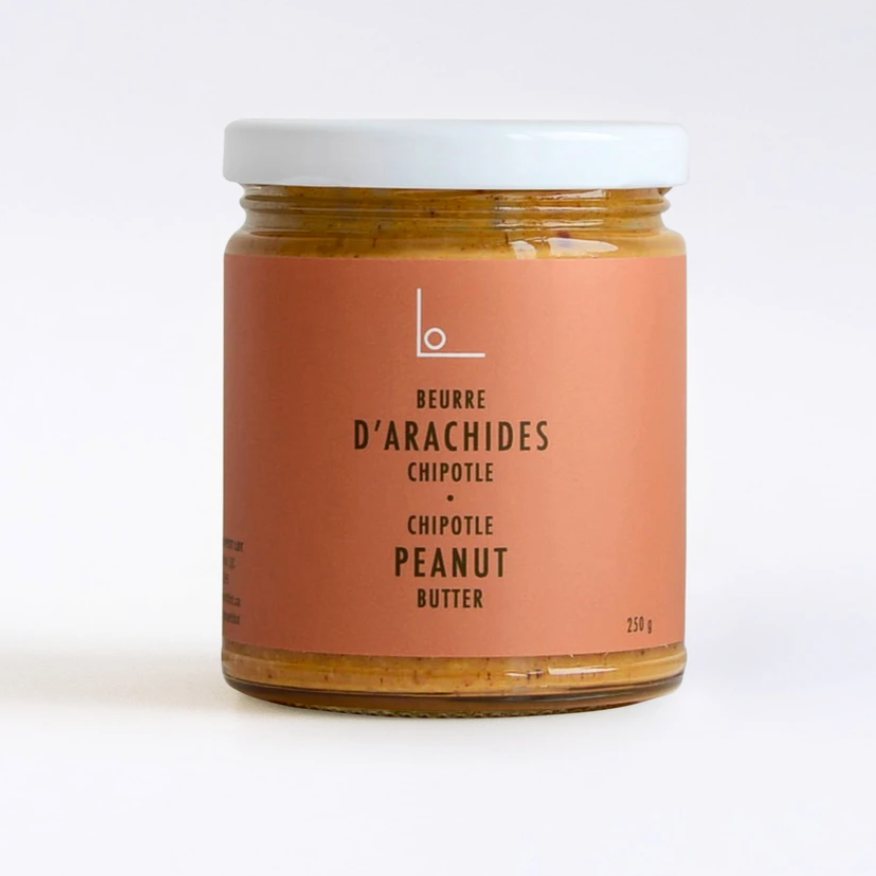 Peanut Butter, Logan Petit Lot, Chipotle Peanut Butter, Made in Montreal, Made in Quebec, Local gifts, Unique gifts, Housewarming Gift, Montreal Gift Box, Montreal Gift Basket