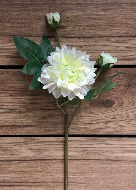 "ITEM 00959 W - 21"" WHITE DAHLIA SPRAY"