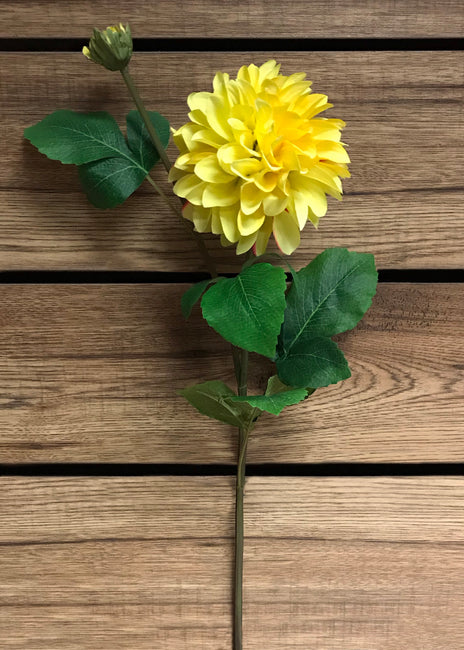 "ITEM 00960 Y - 29"" YELLOW DAHLIA SPRAY"