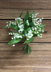 "ITEM 00962 - 13"" LILY OF THE VALLEY BUNDLE X 9"