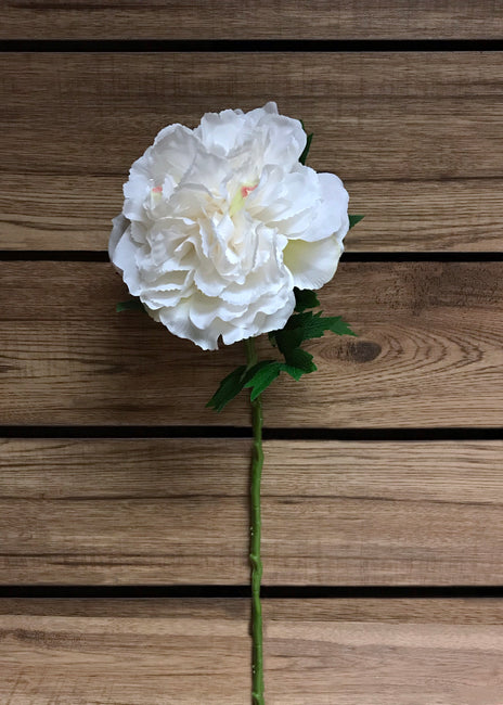 "ITEM 00966 W - 24"" WHITE PEONY SPRAY"
