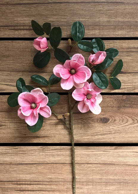 "ITEM 00968 PK - 29"" PINK GARDEN MAGNOLIA SPRAY"