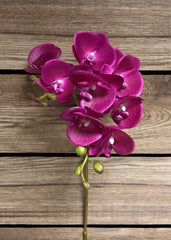 "ITEM 00970 LV - 27.5"" LAVENDER PHALAENOPSIS ORCHID SPRAY WITH COATING"