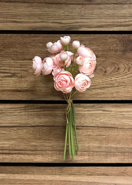 "ITEM 00972 BLUSH - 11"" BLUSH RANUNCULUS - 6 STEMS PER BUNDLE"