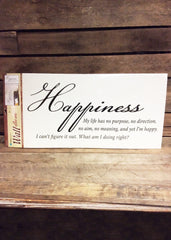 ITEM C 07194 HAP - HAPPINESS INSPIRATIONAL DESIGN GRAPHIC