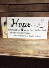ITEM C 07194 HOPE - HOPE INSPIRATIONAL DESIGN GRAPHIC