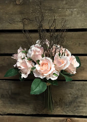 "ITEM 10143 PK - 15"" ROSE AND TWIG BUNDLE"