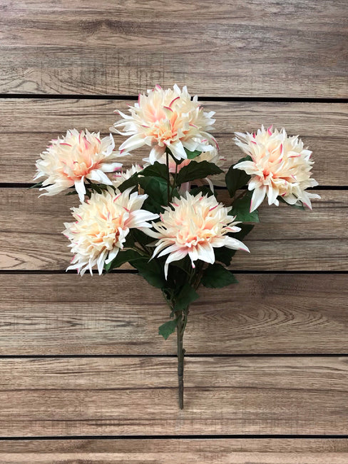 "ITEM 10148 CMPK - 25"" CREAM PINK DAHLIA BUSH X 7"