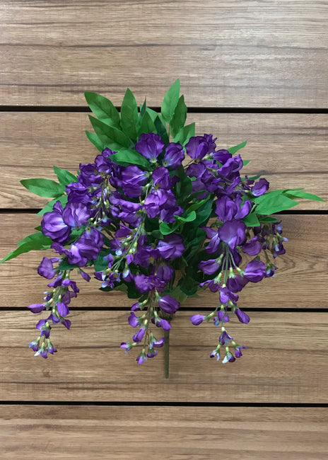 "ITEM 10149 PUR -  22"" PURPLE WISTERIA BUSH X 8"