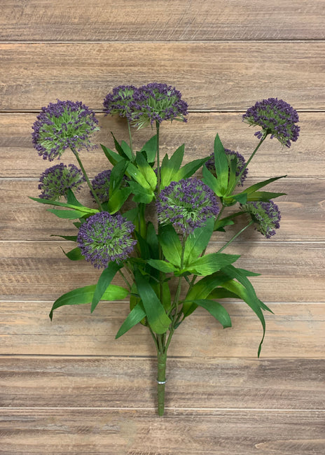 "ITEM 10155 PUR - 20"" PURPLE ALLIUM BUSH"