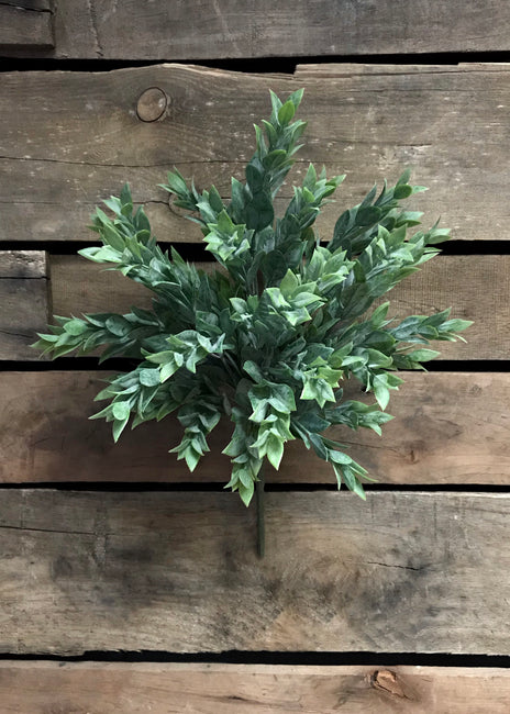 "ITEM 11220 GR - 15"" RUSCUS LEAVES BUSH"