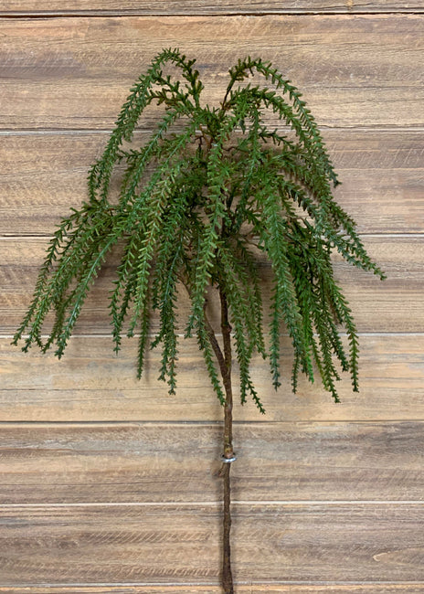 "ITEM 11330 - 22"" FRESH TOUCH HANGING DEER HORN CEDAR SPRAY"