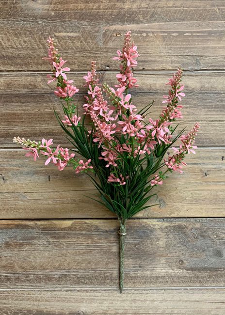 "ITEM 11367 PK - 13"" PINK SWEET VERONICA BUSH WITH 5 STEMS"