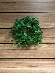 "ITEM 12210 - 6.5"" GREEN ENGLISH IVY WREATH WITH 143 LEAVES"