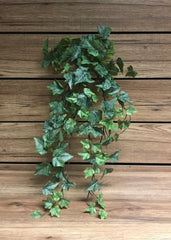 "ITEM 12221 - 28"" FROSTED GREEN ENGLISH IVY BUSH WITH 144 LEAVES"