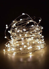 ITEM 1290 WARM - 18' - 50 WARM WHITE MICRO LIGHTS ON SILVER WIRE WITH TIMER FUNCTION