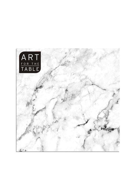 "ITEM C 45397 - 20-PC  ""WHITE MARBLE"" NAPKIN DESIGN"