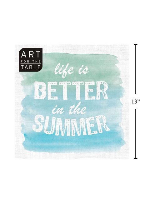 "ITEM C 45411 - 20-PC  ""BETTER IN THE SUMMER"" NAPKIN DESIGN"