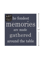 "ITEM C 45422 - 20-PC  ""MEMORIES"" DENIM NAPKIN"