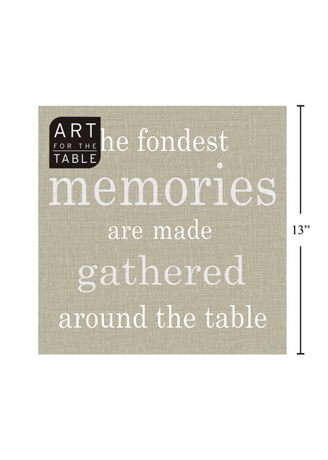 "ITEM C 45423 - 20-PC  ""MEMORIES"" GREY, NAPKIN"