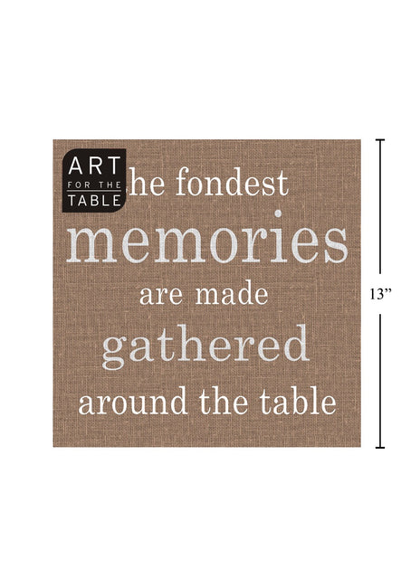 "ITEM C 45424 - 20-PC ""MEMORIES"" TAUPE NAPKIN"