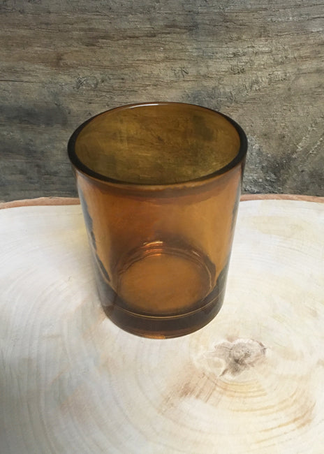 "ITEM 6076 AMB - AMBER 2 3/4"" GLASS VOTIVE CUP HOLDER"
