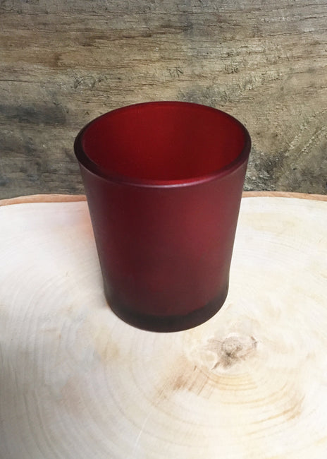 "ITEM 6076 R - RED 2 3/4"" GLASS VOTIVE CUP HOLDER"