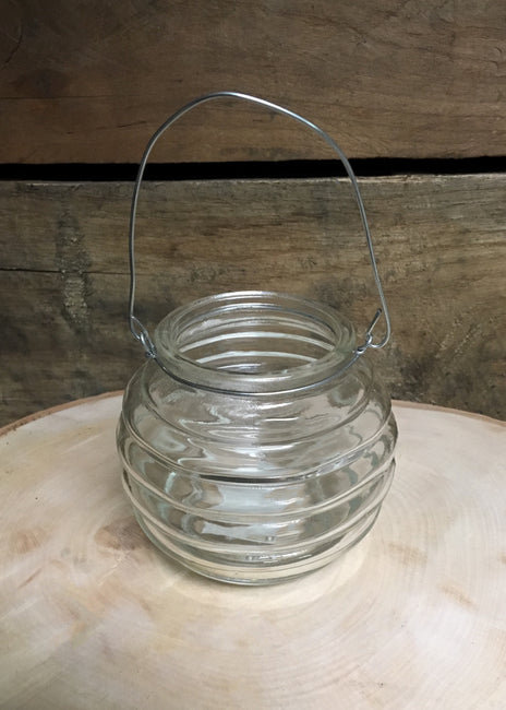 ITEM 6087 CL - CLEAR HANGING VOTIVE HOLDER WITH HANDLE
