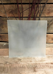 ITEM 7002 - LARGE FROSTED SQUARE GLASS PLATE