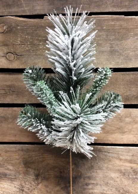 "ITEM 81012 -  18.5"" SNOWY MIXED PINE SPRAY"