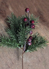 "ITEM 81016 -  9.5"" PLASTIC PINE AND BERRIES PICK"