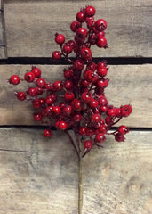 "ITEM 81087 R -  18"" RED OUTDOOR WILD BERRY SPRAY WITH 8 BRANCHES"